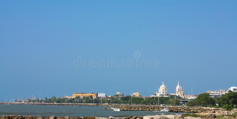 Cartagena de indias. Panorámico, Colombia foto de archivo