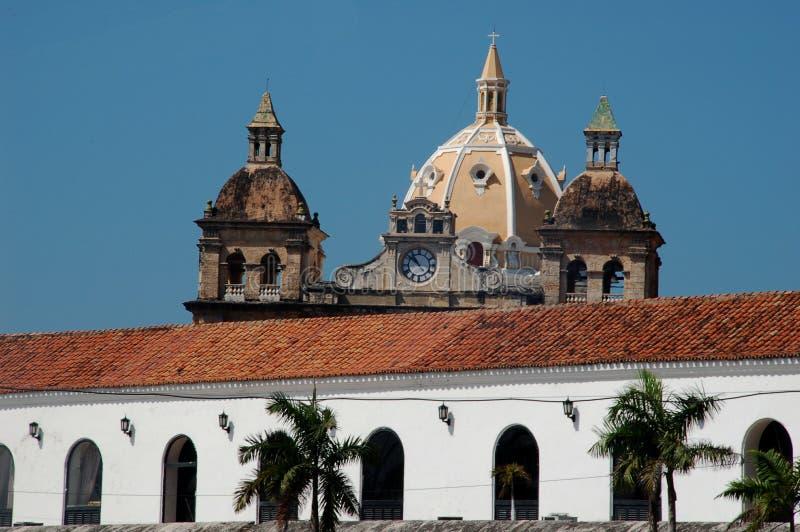 Cartagena de Indias skyline royalty free stock photos