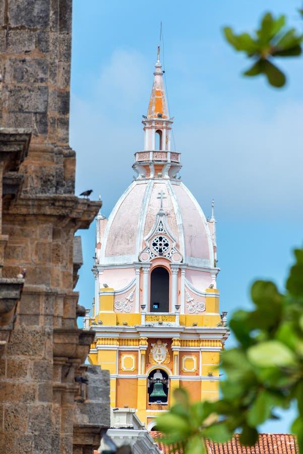 Cartagena domkyrkaCloseup arkivfoton