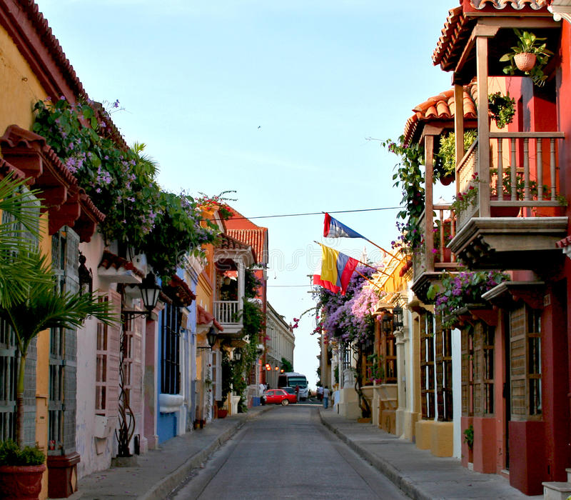 Cartagena-Gasse stockfoto