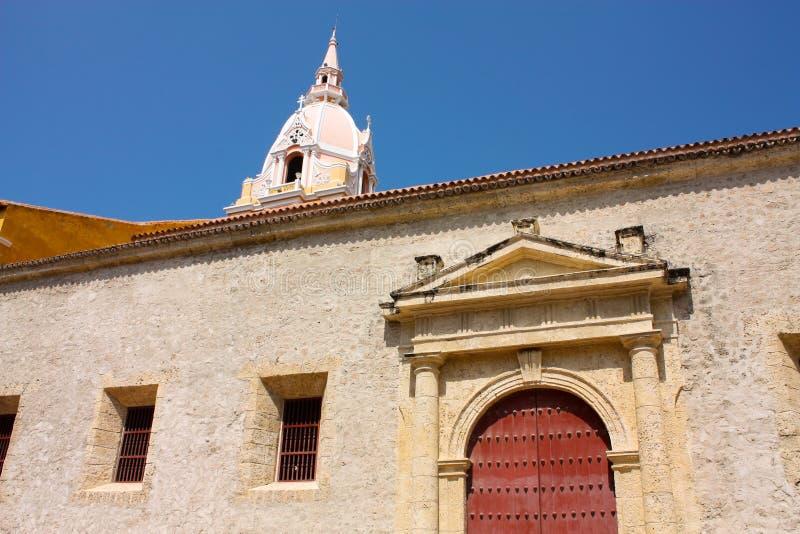 cartagena katedralny Colombia De Indias obrazy royalty free