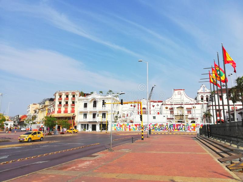 Cartagena kolumbien lizenzfreie stockfotografie