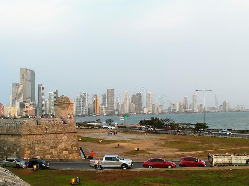 Cartagena kolumbien stockfotos
