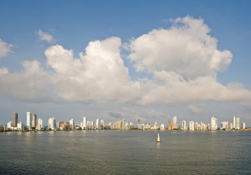 cartagena linia horyzontu Colombia obraz royalty free