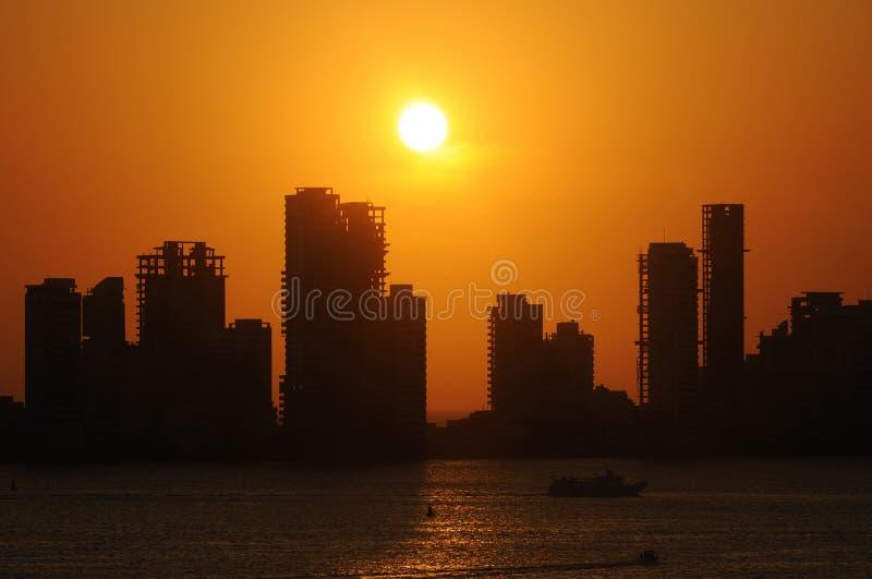 Cartagena-Skyline stockfotografie