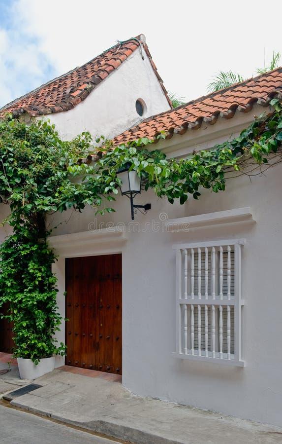 Cartagena-Stadthaus lizenzfreie stockfotos