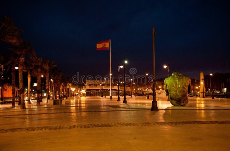 Cartagena, tomo da noite imagens de stock royalty free