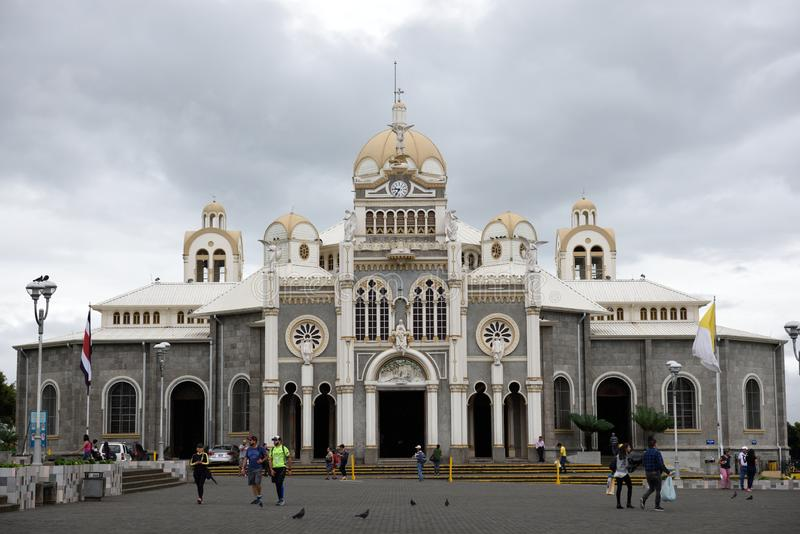 Cartago, Costa Rica, exterior view of the Our Lady of Angels Basilica stock images