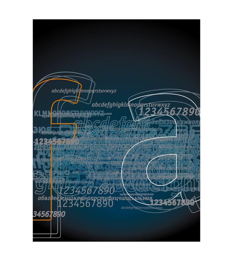 Cartas 1 del fondo ilustración del vector