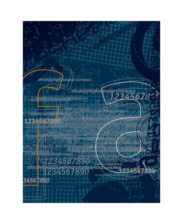 Cartas 2 del fondo stock de ilustración