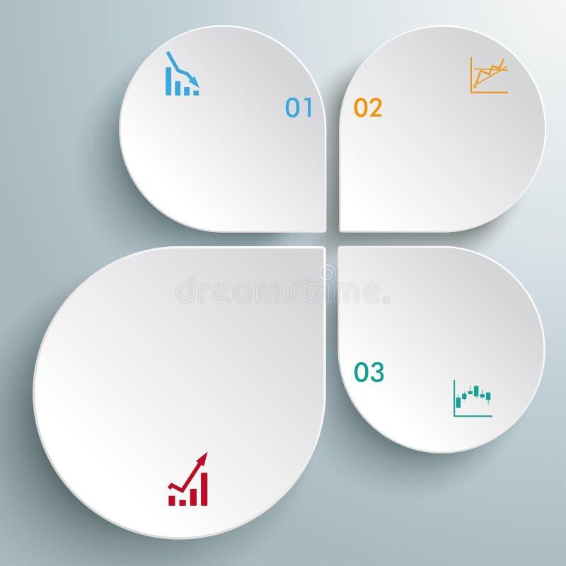 Cartas abstratas brancas PiAd das gotas de Infographic ilustração do vetor
