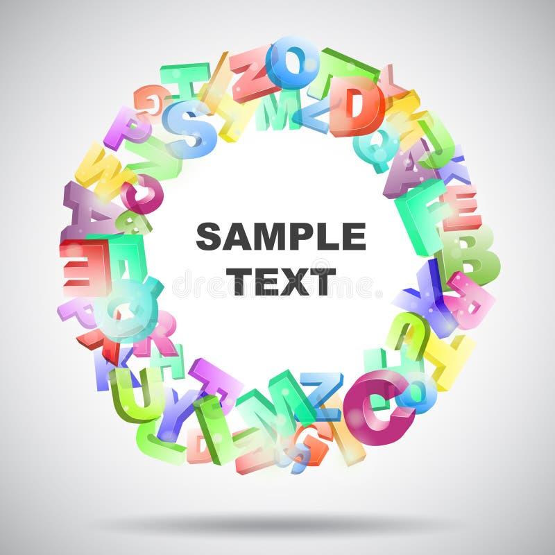 cartas coloreadas 3d ilustración del vector