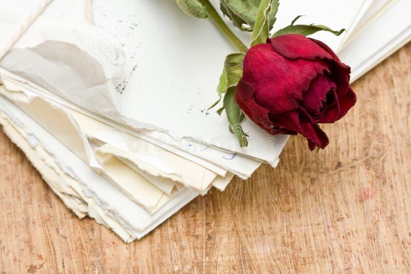 Cartas de amor imagen de archivo libre de regalías