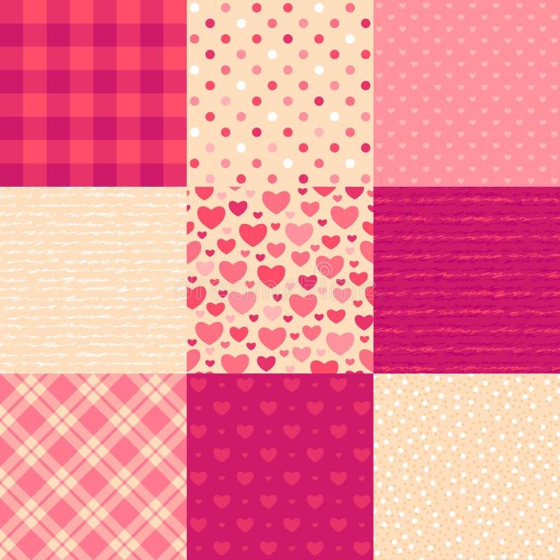 Cartas de amor stock de ilustración