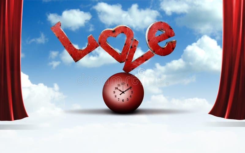 Cartas de amor ilustración del vector