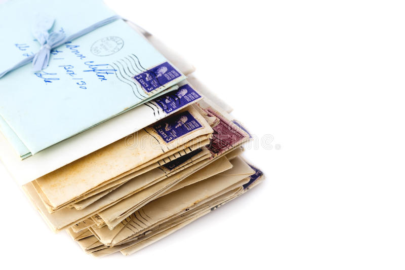 Cartas de amor velhas fotos de stock royalty free