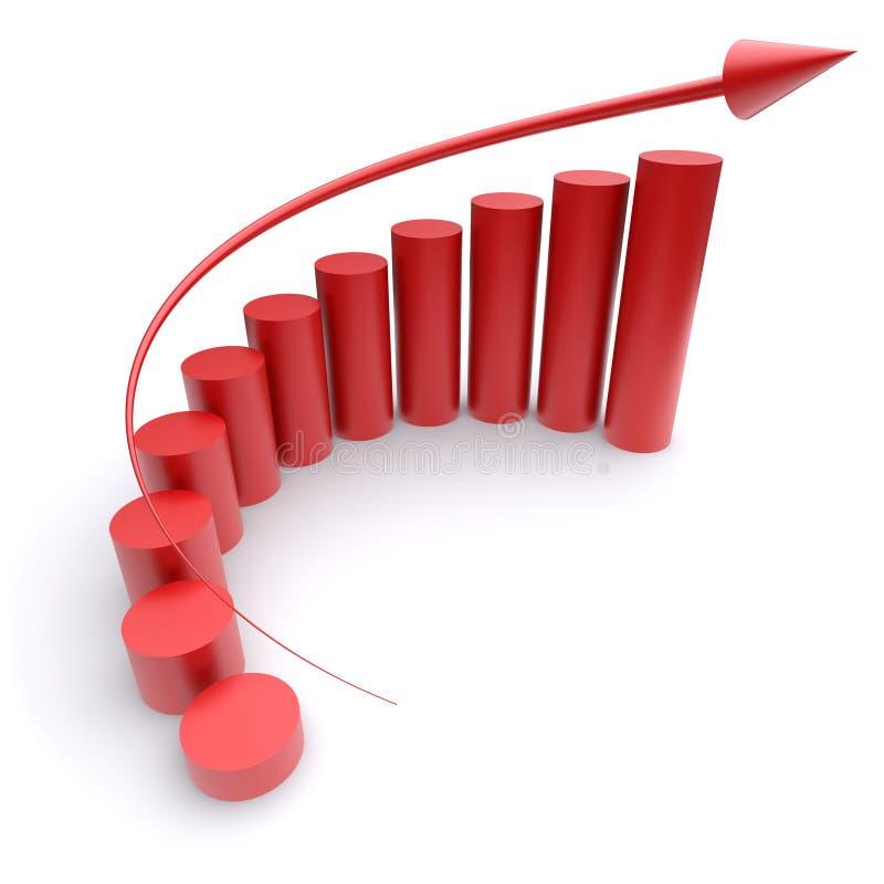 Cartas de crecimiento stock de ilustración
