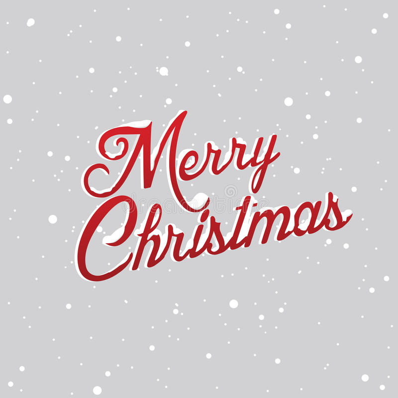 Cartas de la Feliz Navidad cubiertas con nieve ilustración del vector