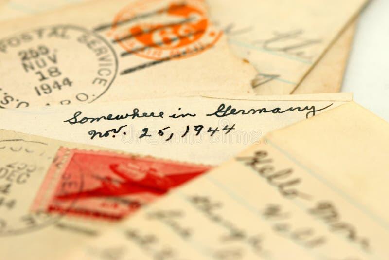 Cartas de la guerra imagenes de archivo