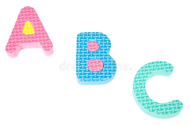 Cartas de los colores del alfabeto imagenes de archivo