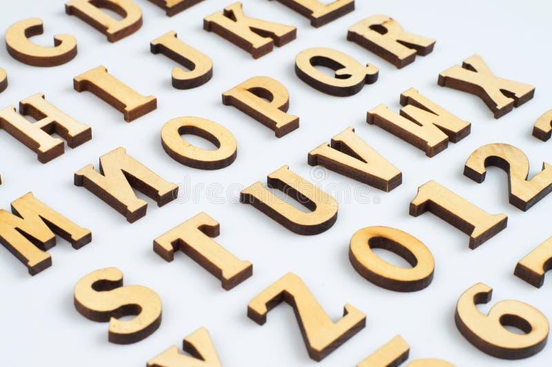 Cartas de madera imagen de archivo libre de regalías