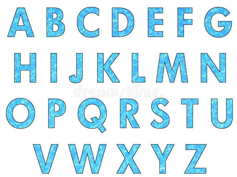 Cartas del agua ilustración del vector