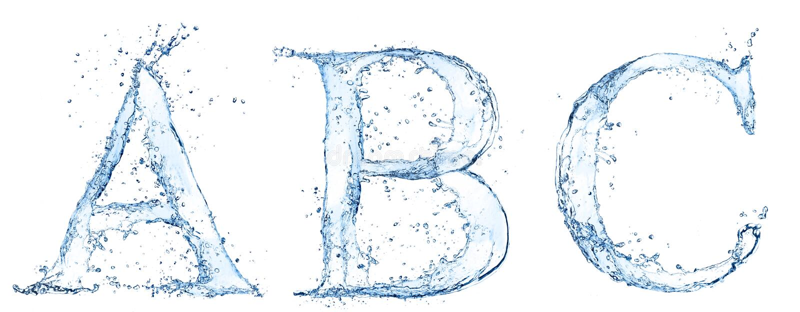 Cartas del agua stock de ilustración