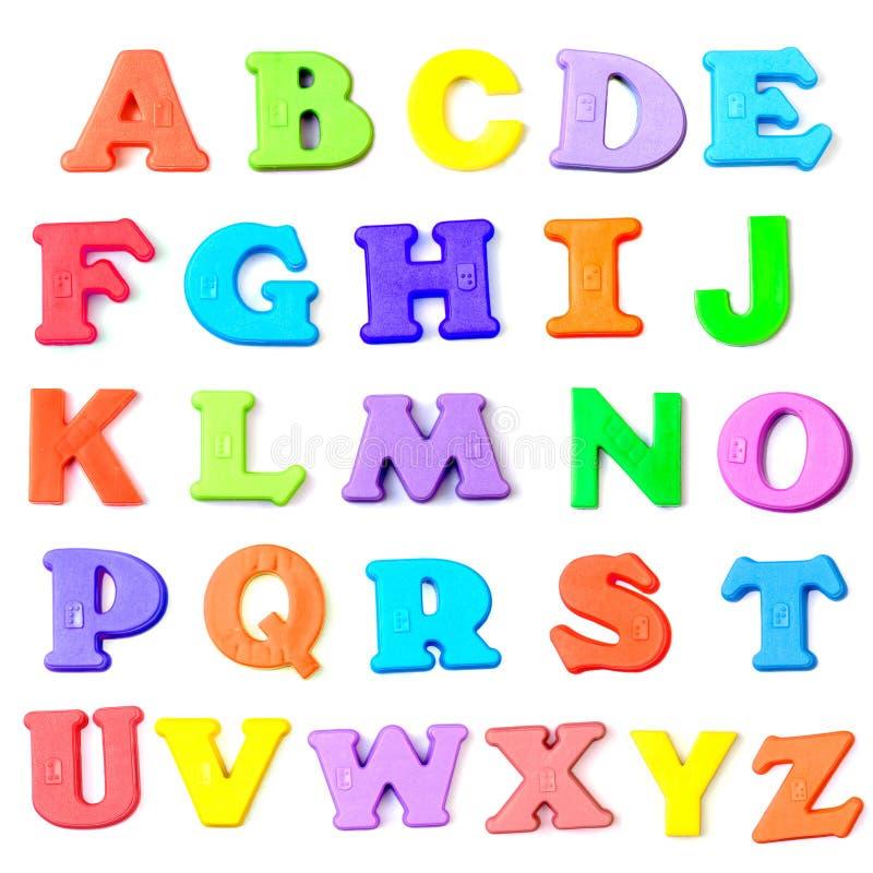Cartas del alfabeto imagen de archivo