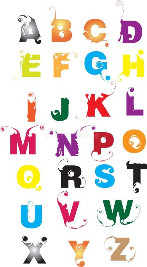 Cartas del alfabeto ilustración del vector