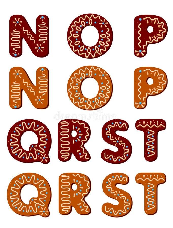 Cartas del pan de jengibre de N a T libre illustration
