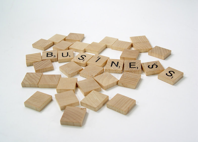Cartas del Scrabble fotos de archivo