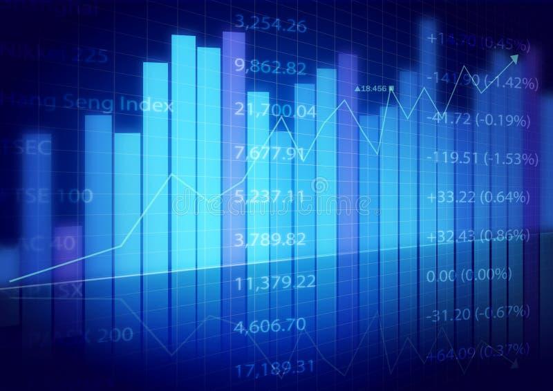 Cartas do mercado de valores de acção fotografia de stock royalty free