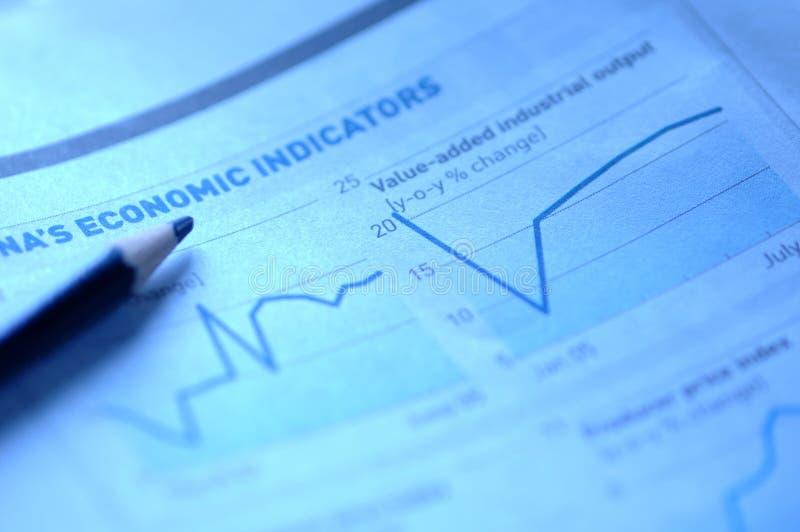Cartas do mercado de valores de acção fotos de stock
