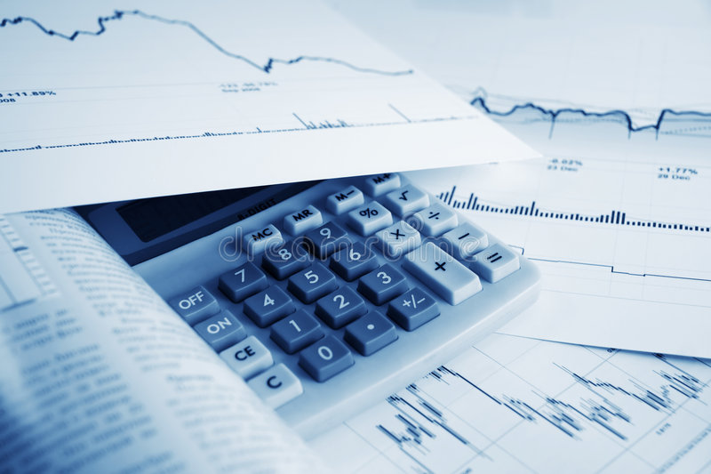 Cartas do mercado de valores de acção. imagem de stock