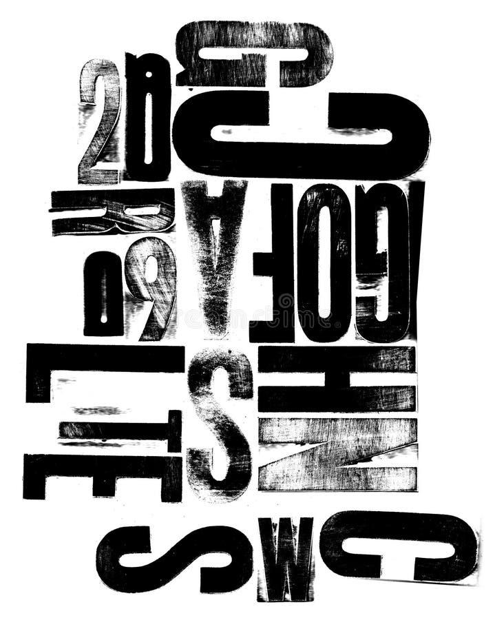 Cartas mezcladas del grabar en madera libre illustration