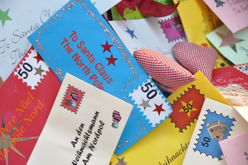 Cartas a Papá Noel foto de archivo