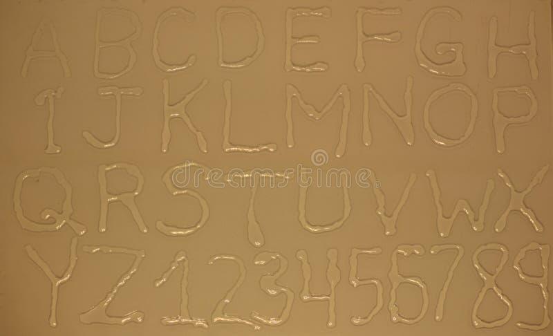 Cartas y números del agua ilustración del vector