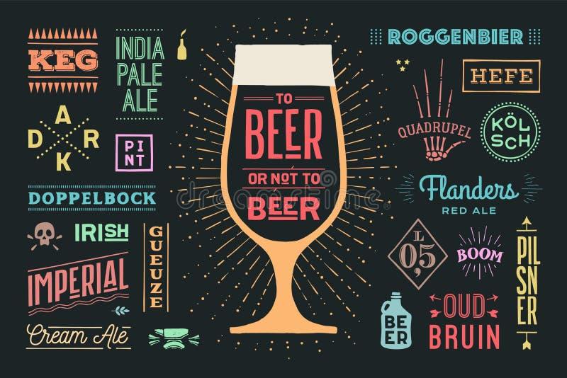 Cartaz à cerveja ou não à cerveja ilustração royalty free
