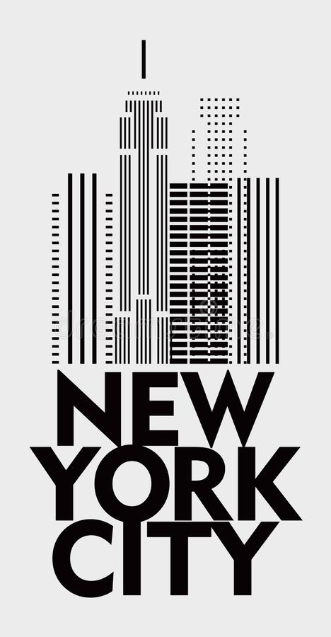 Cartaz à moda New York do projeto minimalism ilustração stock