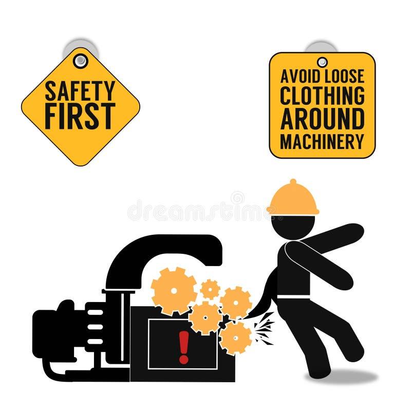 Cartaz abstrato da segurança em primeiro lugar ilustração royalty free