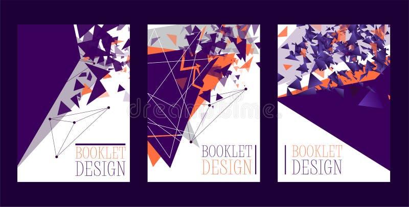 Cartaz abstrato do projeto da brochura, bandeira, ilustração do vetor do cartão Projeto de Minimalistic, conceito criativo, moder ilustração do vetor
