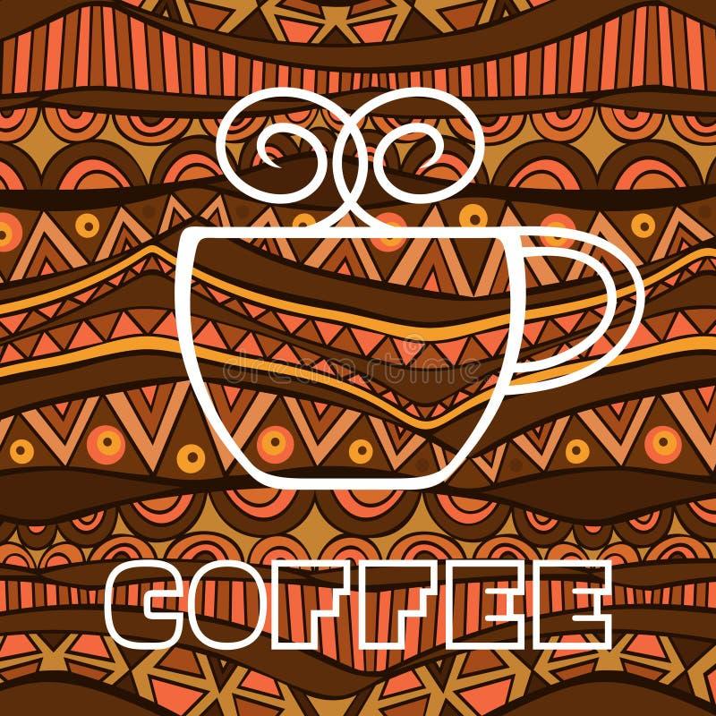 Cartaz africano do café ilustração royalty free