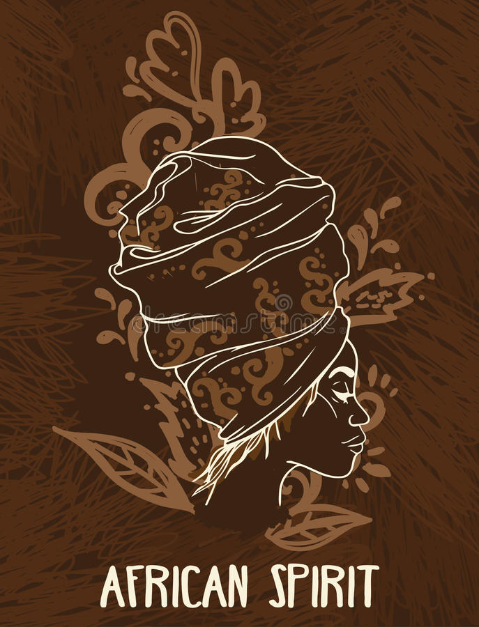 cartaz africano do espírito ilustração stock