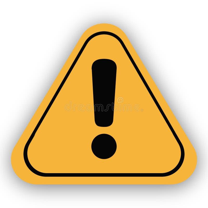 cartaz amarelo do conceito do sinal de aviso ilustração do vetor