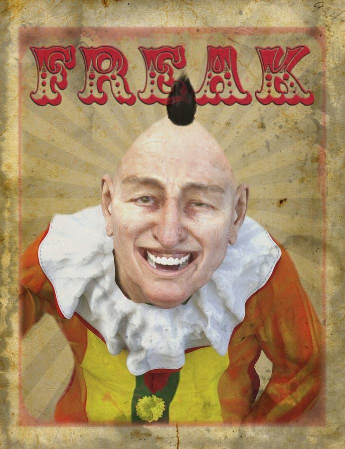 Cartaz arrepiante da mostra do circo do vintage ilustração stock