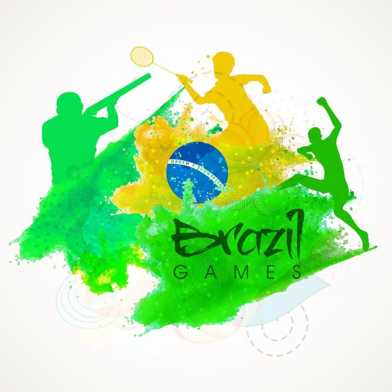 Cartaz, bandeira ou inseto para o conceito dos esportes ilustração do vetor