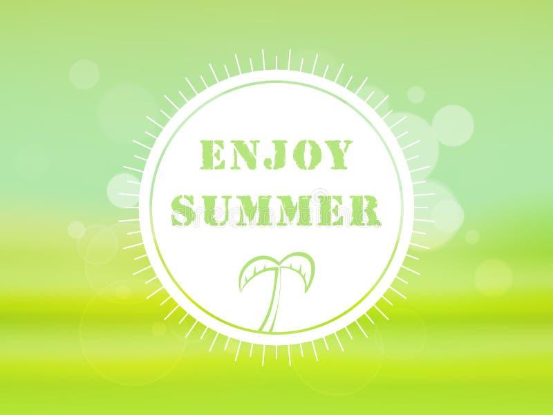 Cartaz, bandeira ou inseto por férias de verão ilustração royalty free