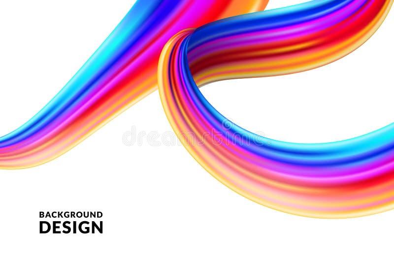 Cartaz, bandeira, projeto criativo da apresentação Os inclinações vibrantes pintam o fundo do curso da escova Ilustração do vetor ilustração do vetor