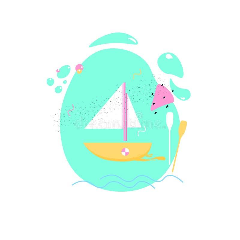 Cartaz colorido do verão imagem de stock royalty free