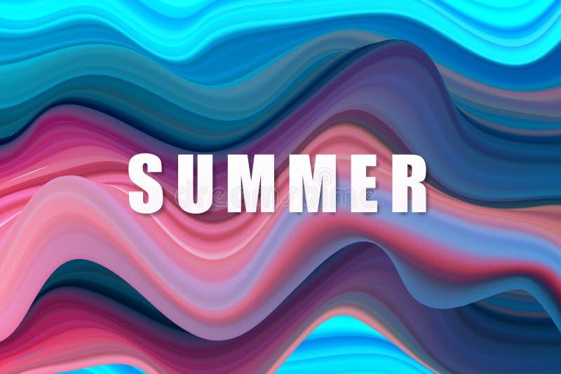 Cartaz colorido moderno do fluxo Fundo l?quido da cor da forma da onda Projeto da arte para seu projeto de design Ilustra??o do v ilustração royalty free